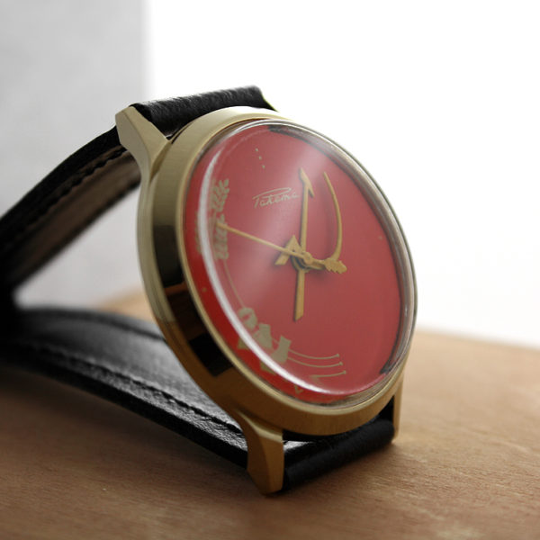 Russian mechanical watch RAKETA Hammer and Sickle Red 35 mm