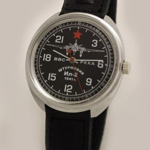 Russian 24-hours Mechanical Watch Sturmovik IL-2 (black)