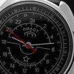 Russian 24-Hours Mechanical Watch PILOT Raketa (black3)
