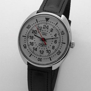 Russian 24-hours watch PILOT Raketa (white)