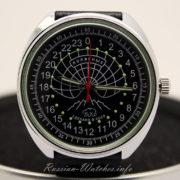 russian watch raketa 24 hour dial polar bear