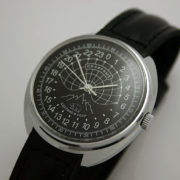 Raketa POLAR BEAR Russian 24-Hour Mechanical Watch Black