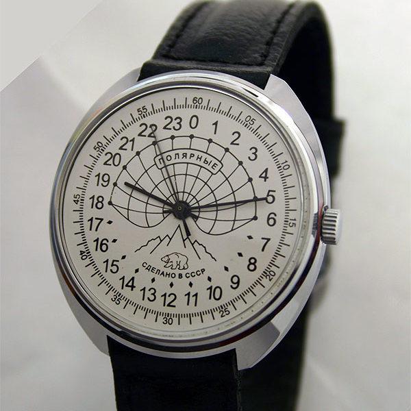 Raketa POLAR BEAR Russian 24-Hour Mechanical Watch White