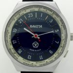 Russian 24-Hours Mechanical Military Watch RAKETA World Time Blue