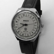 Russian 24-Hours Mechanical Military Watch RAKETA World Time White