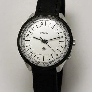 Russian 24-Hours Mechanical Military Watch RAKETA World Time White (Russian version)