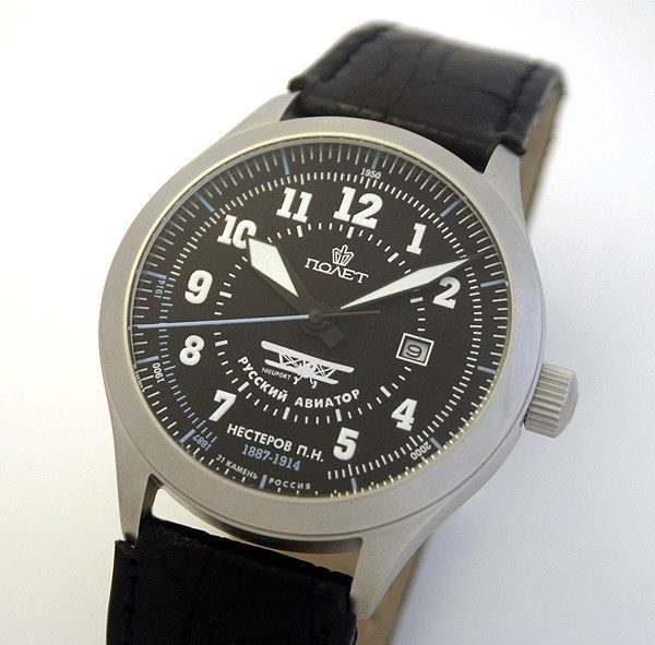 Russian automatic watch POLJOT RUSSIAN AVIATOR NESTEROV