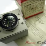 Russian Tank Cockpit 5-Day Clock Molnija 117-ChS USSR 1968 NOS