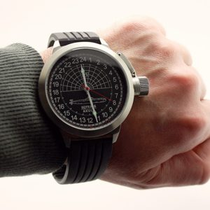 Russian 24-hours watch Submarine Shchuka-B (Akula) Black 51 mm