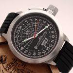 Russian Watch with 24-Hour Dial - Submarine Shchuka-B (AKULA) Black 51 mm