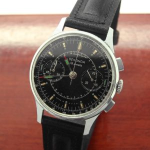 Sekonda 3017 Military Chronograph Watch Black USSR 1970s