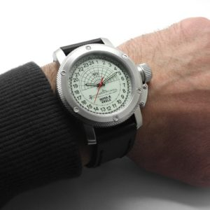 Russian 24-hours watch Submarine Shchuka-B Automatic Luminous 47mm