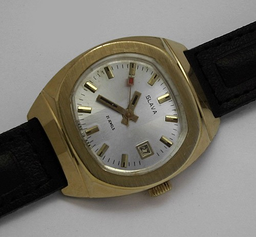 Soviet mechanical watch Slava USSR 1980s