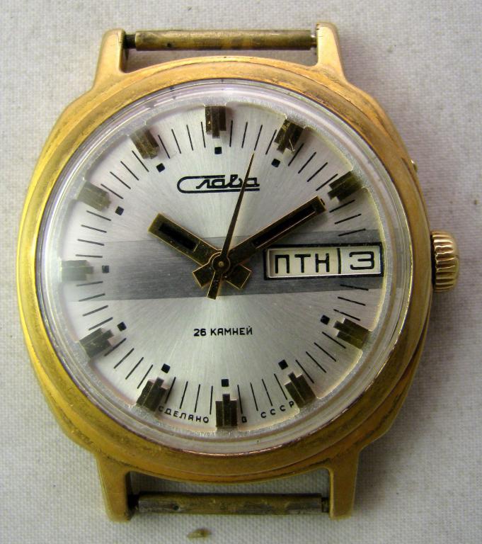 Soviet mechanical watch Slava 2428 USSR 1970s