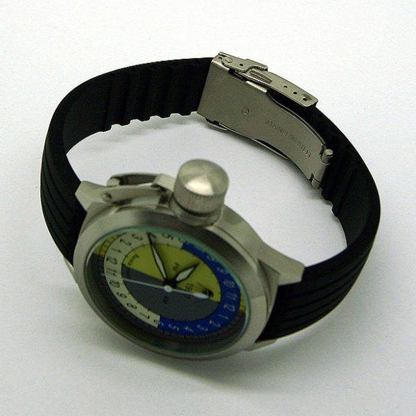Russian 24-hours mechanical self-winding watch Sputnik 1957 pmam 45 mm