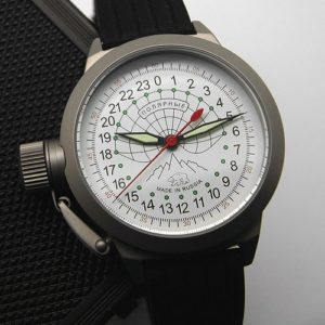 Russian 24 hour automatic watch Sputnik 1957 Polar Bear 45 mm (left)