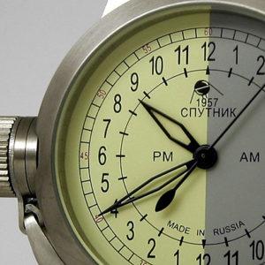 Russian 24-hours mechanical self-winding watch Sputnik 1957 yg 45 mm