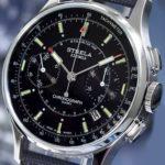 Russian Chronograph Watch POLJOT STRELA 3133 Black