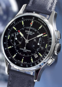 poljot strela 3133 chronograph black dial