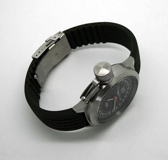 Russian 24-hour mechanical watch Submarine ANTEY (Oscar-II) Black 45 mm