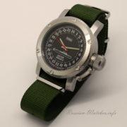 Russian 24-hour mechanical watch Submarine ANTEY (Oscar-2) Black 47 mm (Nato Strap)