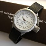Russian 24-hour mechanical watch Submarine ANTEY (OSCAR II) White 45 mm