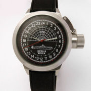 Russian 24-hour mechanical watch Submarine Shchuka-B Black 45 mm