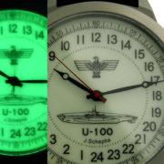 German WWII Submarine U-100 - Russian 24-hour mechanical watch