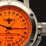 russian watch with 24 hours dial german submarine u-100