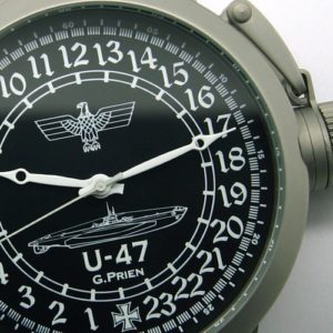 russian watch with 24-hours dial german submarine u-47