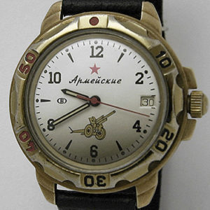 Soviet mechanical watch Vostok 2409 Army Artillery USSR 1991