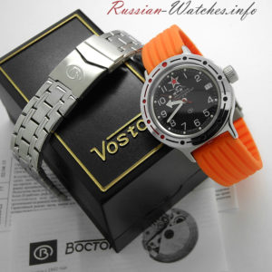 russian automatic diver watch vostok amphibian tank 420306