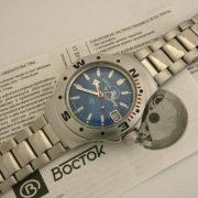 russian automatic diver watch vostok amphibian 060059 scuba dude