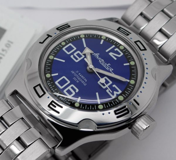 Russian automatic watch VOSTOK AMPHIBIAN 2415.01 / 100815