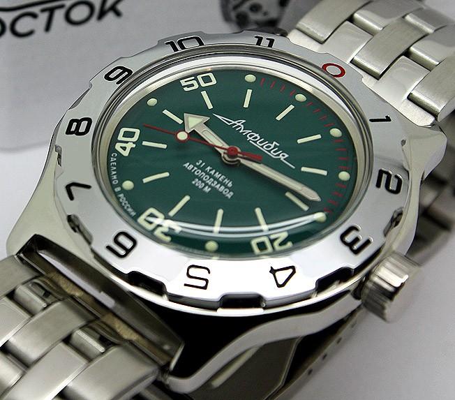 Russian automatic watch VOSTOK AMPHIBIAN 2415.01 / 100821