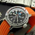 Russian Airborne Troops Automatic Watch VOSTOK AMPHIBIAN 2416 / 420288 silicone