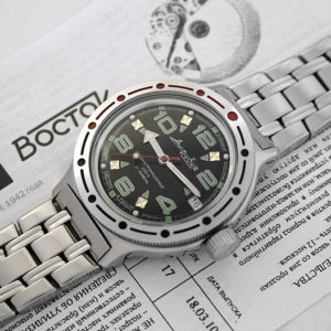 vostok amphibian 420334 automatic diver russian watch