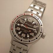 vostok amphibian 420335 russian diver automatic watch
