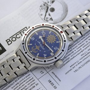 vostok amphibian russian automatic diver watch 420374