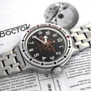 russian automatic diver watch vostok amphibian 420380 scuba dude