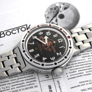 russian automatic diver watch vostok amphibian 420380 scuba dude