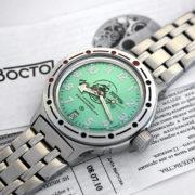 vostok scuba dude amphibian automatic russian diver watch 420386