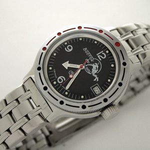 vostok amphibian russian automatic diver watch scuba dude 420634 black