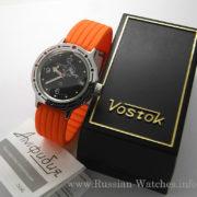 Russian automatic watch VOSTOK AMPHIBIAN 2416 / 420634 silicone