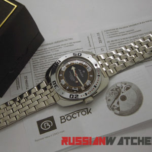 vostok amphibian russian automatic diver watch 710394