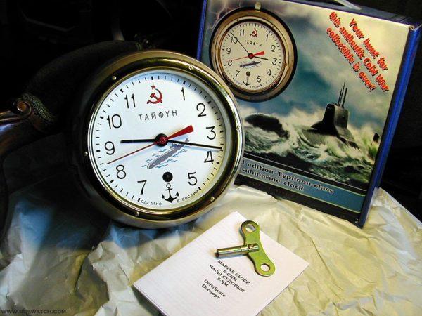 Russian Vostok Ship 8-Days Clock 5-CHM Submarine Typhoon