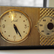 Soviet Vintage ZLATOUST Desk Clock & MOLNIJA 60-Minute Timer USSR 1965