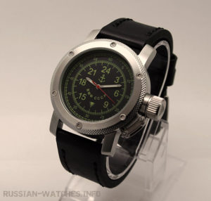 Russian Watch with 24-Hour Dial – Automatic - Russian NAVY Black 47 mm