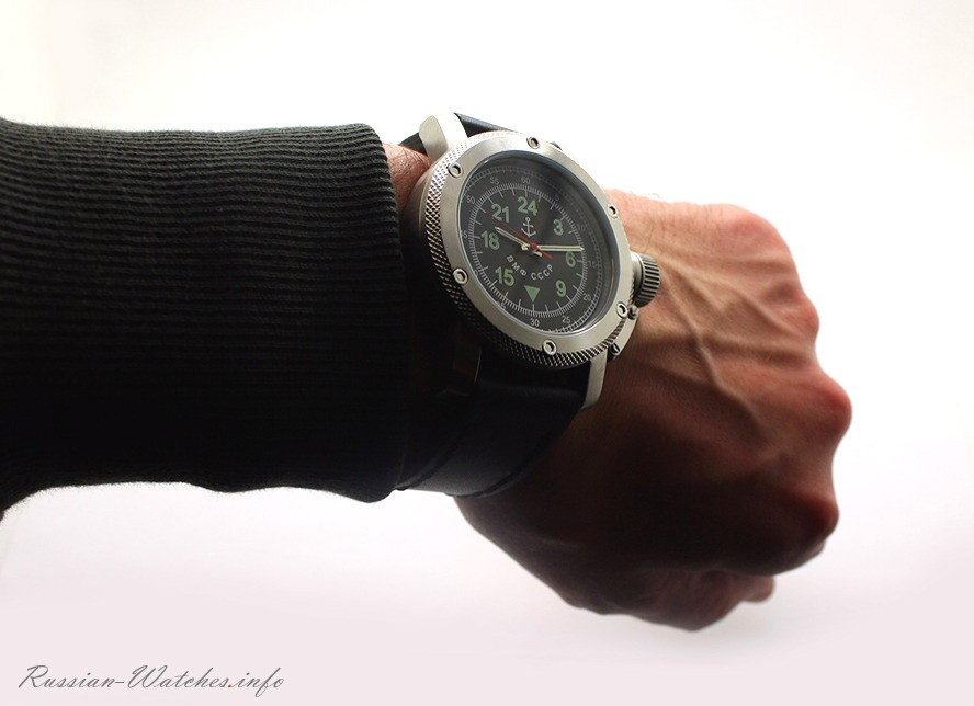 Russian Watch with 24-Hour Dial – Automatic – Russian NAVY Black 47 mm