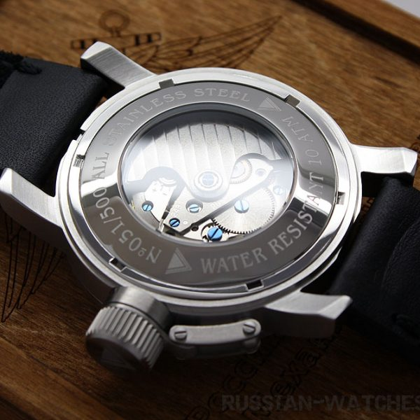 Russian Watch with 24-Hour Dial – Automatic – Russian NAVY khaki 47 mm